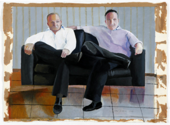 Brothers I (acrylic on paper - 52x66cm)